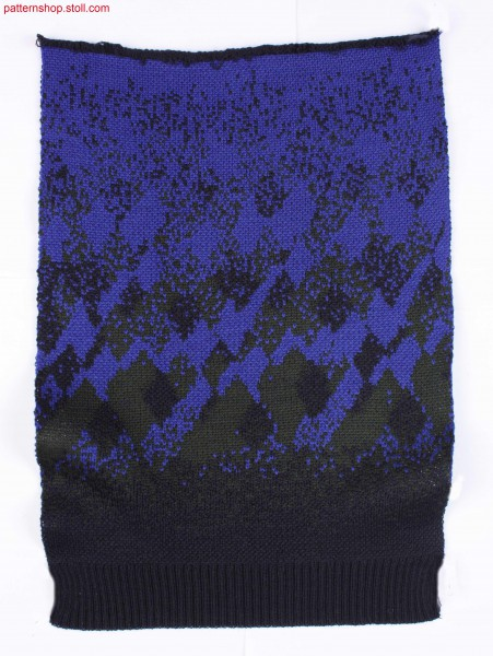 Swatch in 3-colour jacquard with twill back / Musterabschnitt in 3-farbigem Jacquard mit K