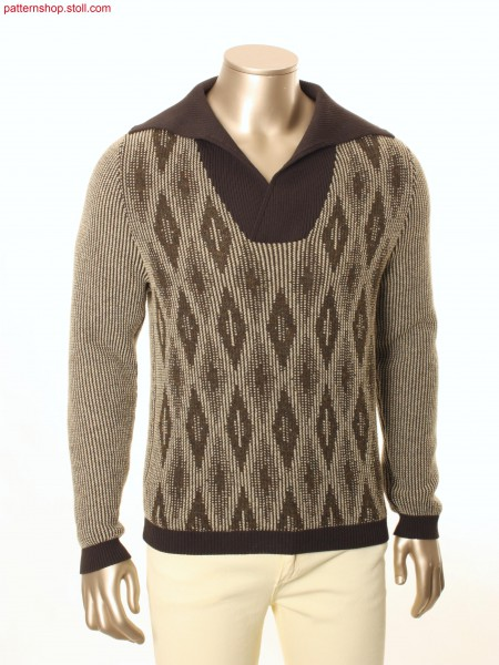 Fully Fashion pullover with diamond design / Fully FashionPullover mit Rautenmuster