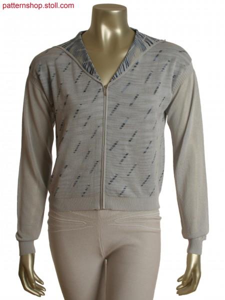 Fully Fashion hood jacket in tubular jacquard