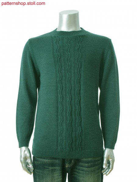 Fully Fashion men's pullover with aran structure