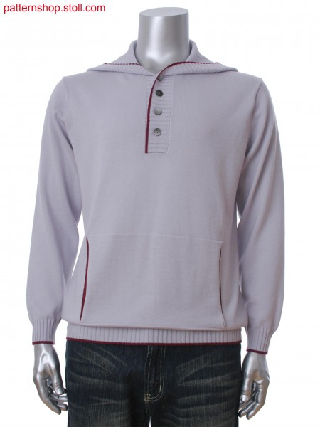Fully Fashion hooded men's pullover with muff pocket.
