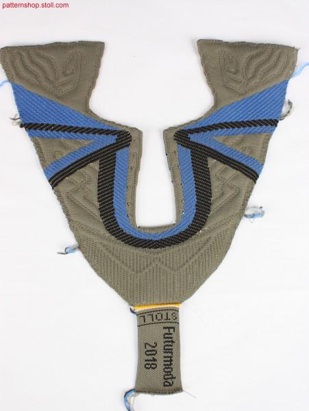 Shoe-upper with 3-colour jacquard / Schuhoberteil mit 3-farbigem Jacquard