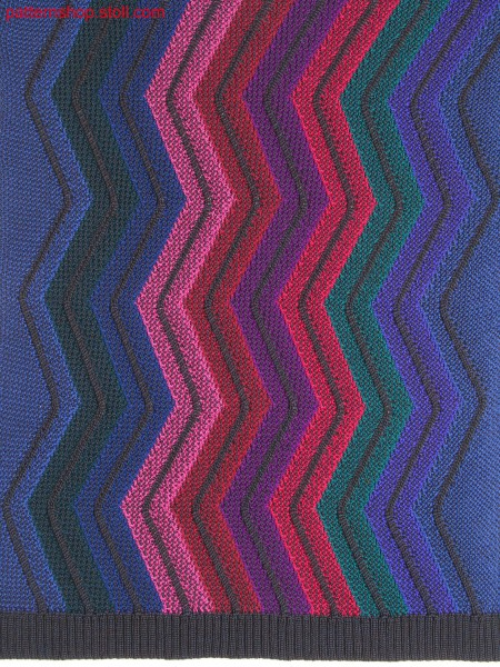 Intarsia structure pattern with aran imitation / Intarsia-Strukturmuster mit Aranimitation