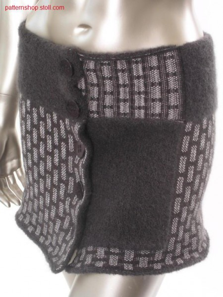 FF costume skirt, knitted in 2 layers / FF Kost