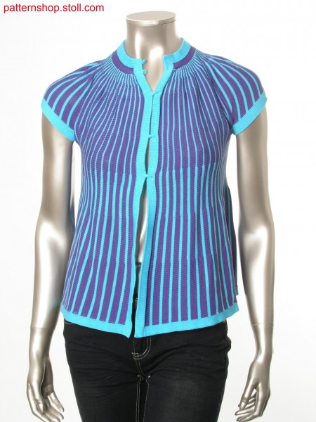 Striped Fully Fashion jersey cardigan / Geringelte Fully Fashion Rechts-Links Strickjacke