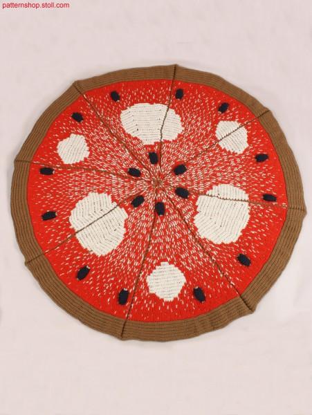 Pizza carpet in cross-tubular structure / Pizza-Teppich inKreuzschlauch-Struktur