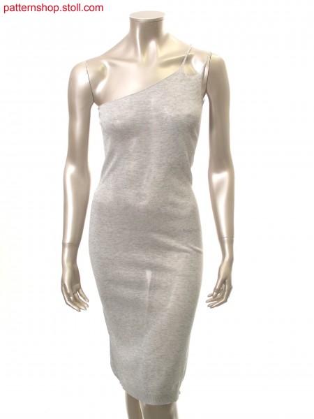 Fitted jersey dress with asymmetrical neckline / Tailliertes Rechts-Links Kleid mit asymmetrischen Ausschnitt