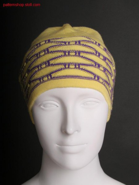 Fully Fashion cap with structured stripes / Fully Fashion Rechts-Links M