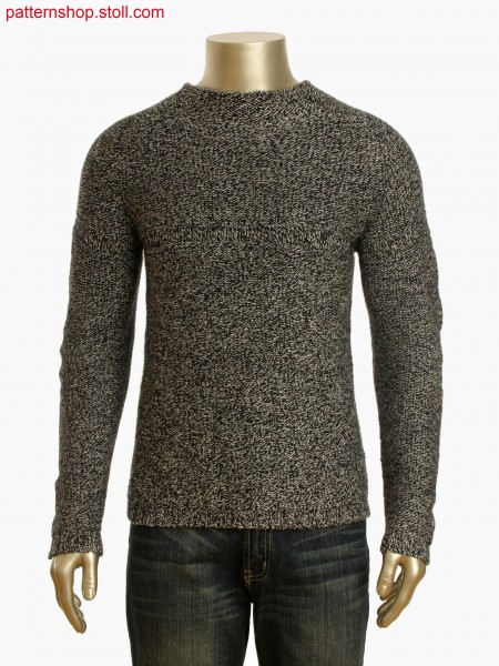 Stoll-knit and wear&reg Pullover with structure in gore technique and cast off detail