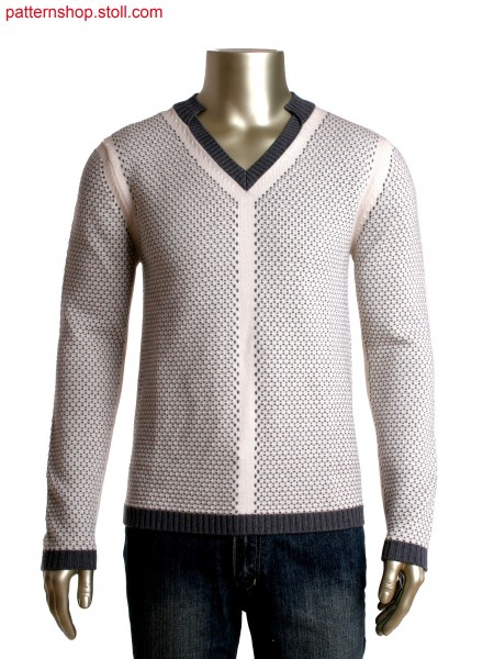 Fully Fashion pullover with contrast colour stitch detail