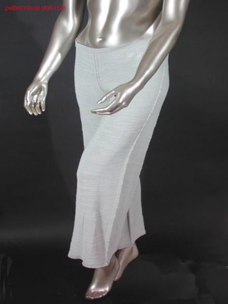 Trouser in jersey with linked off waist / Hose in R:L mit abgeketteltem Bund