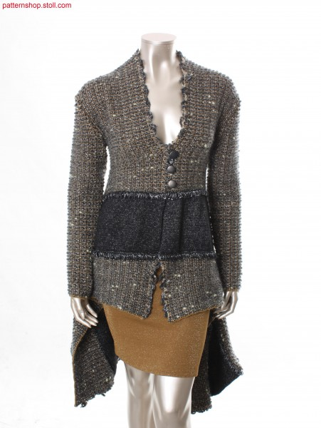 Cut and sew coat in tweed-look / Mantel in Tweed-Optik ausSchnittware