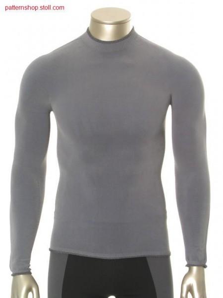 Fair isle sportswear pullover in plated jersey / Fair Isle Sportswear Pullover in plattiertem Rechts-Links