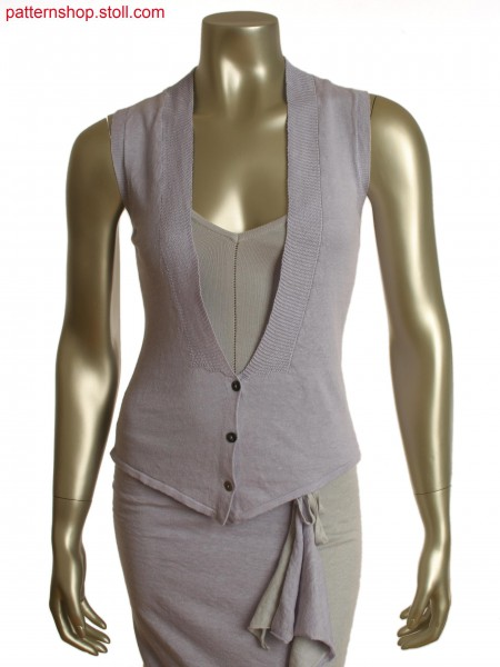 Fully Fashion waistcoat with purl and holding stitches