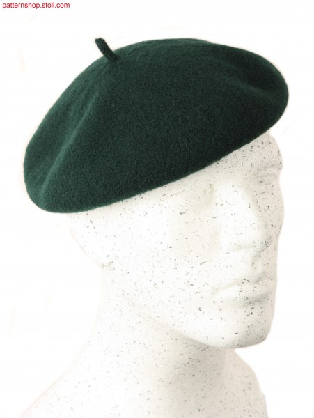 Jersey beret with shaping by gore technique / Rechts-LinksBarett mit Formgebung durch Spickeltechnik