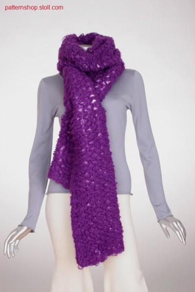 Two-layer scarf in jersey structure with floats / Zweilagiger Schal in Rechts-Links Struktur mit Flottungen