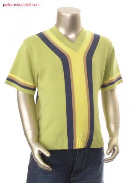FF-Intarsia short-sleeve children's pullover / FF-Intarsia kurzarm Kinderpullover