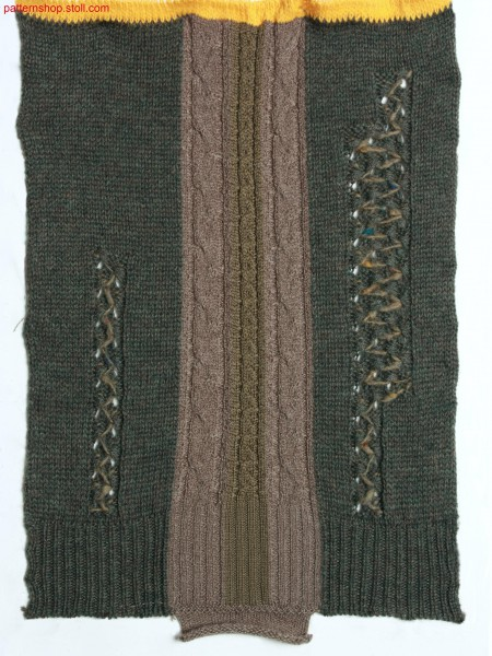 Swatch in jersey structure with fancy stitch / Musterauschnitt in Rechts-Links Struktur mit Zierstich