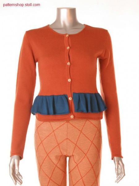 Fitted Fully Fashion jersey peplum jacket / Taillierte FullyFashion Rechts-Links Sch
