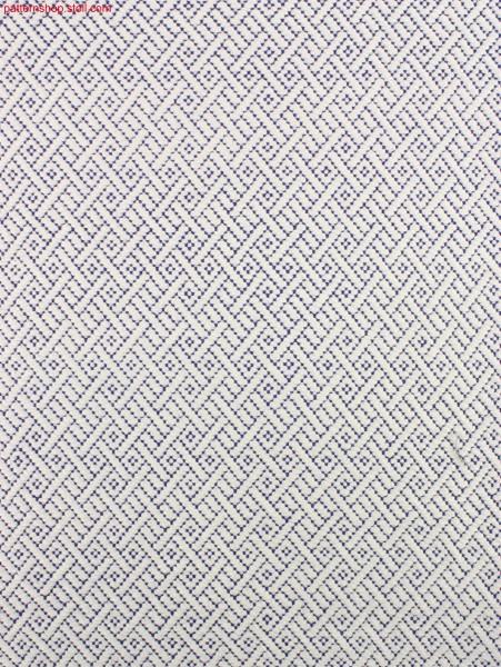 Swatch with Stoll-weave-in® ribbon yarn / Musterabschnittin Stoll-weave-in® mit Bändchengarn-Schussfaden
