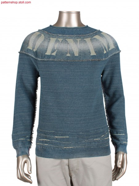 Fully Fashion denim pullover / Fully Fashion Jeans-Pullover