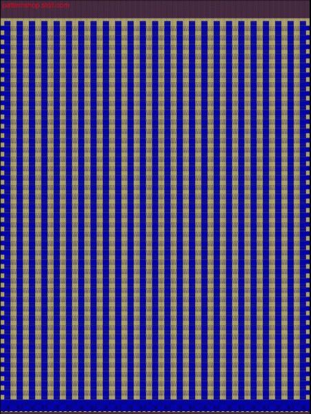 Swatch with 2-colour float thread structure / Musterabschnitt mit 2-farbiger Flottfadenstruktur