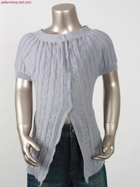 Children's cardigan, made up across the knitting direction/ Kinderstrickjacke, puer zur Strickrichtung konfektioniert