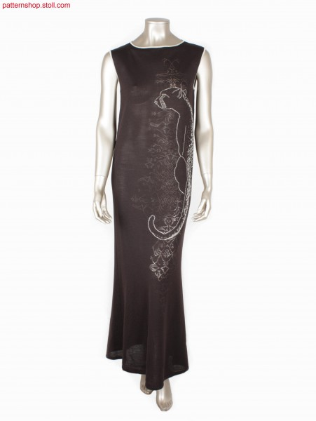 Sleeveless Fully Fashion jersey dress with cheetah motif /