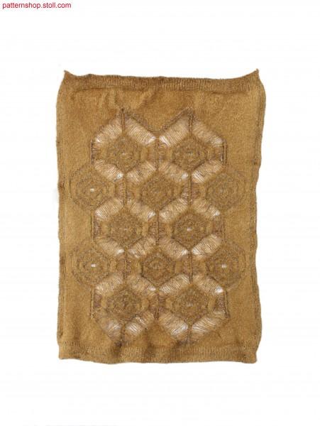 Swatch with relief-like diamond motifs / Musterausschnitt mit reliefartigen Rautenmotiven