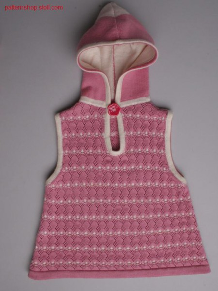 Sleeveless fully fashion baby's dress with pointelle /