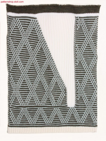 Swatch in 2-colour jacquard structure / Musterausschnitt in 2-farbiger Jacquardstruktur