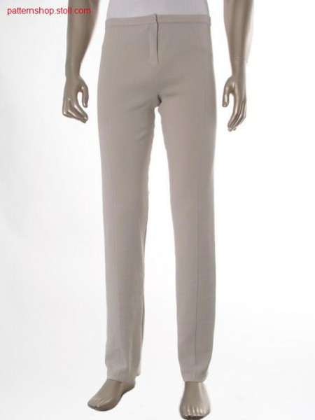 Fully fashion trousers in double jersey with crease / Fully Fashion Hose in Rechts-Rechts mit B