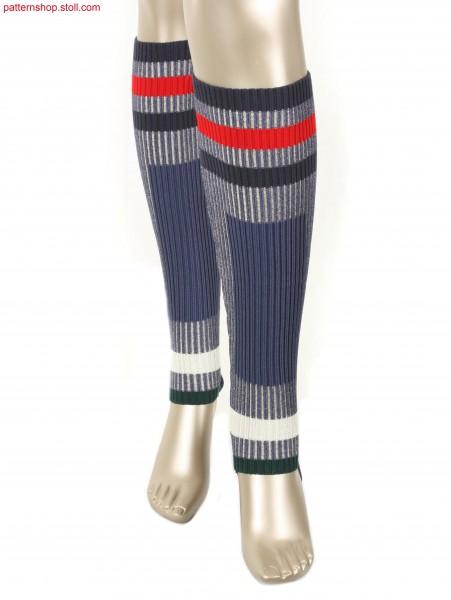 Striped Intarsia leg warmers / Geringelte Intarsia Beinstulpen