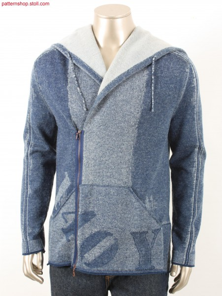Fully Fashion hooded denim cardigan / Fully Fashion Kapuzen-Strickjacke in Jeansoptik