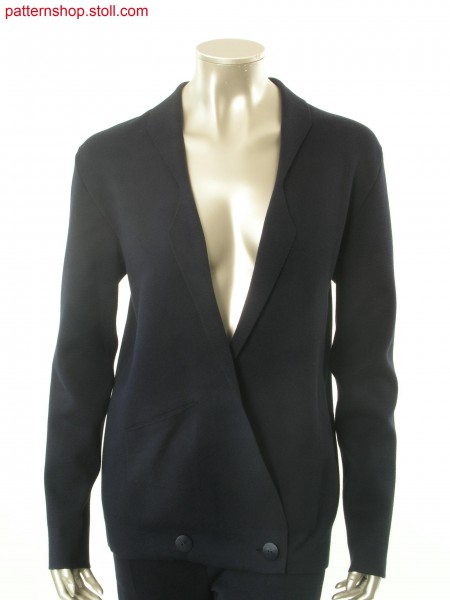 Fully Fashion blazer in milano-rib with patch pocket / Fully Fashion Blazer in Milano-Rib mit aufgesetzter Tasche