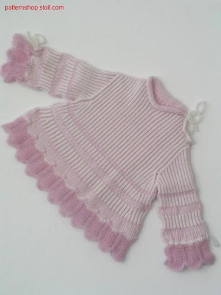 Children's pullover in 2x2 half-cardigan / Kinderpullover in in 2x2 Perlfang
