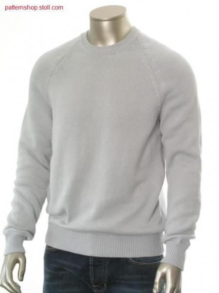 FF-jersey basic raglan pullover, size 50 / FF-Rechts-Links Basic-Raglanpullover, Gr