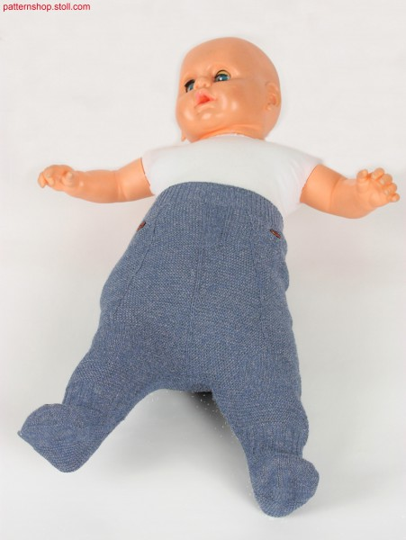 Purl knitted baby pants / Links-Links Babyhose