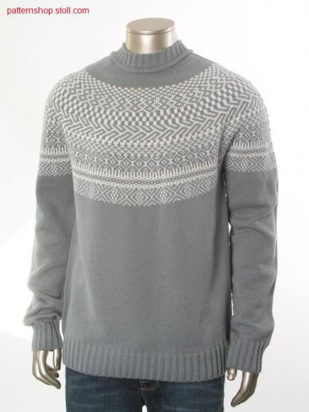 Fair isle pullover with 2-colour float jacquard / Fair Isle Pullover mit 2-farbigem Flottjacquard