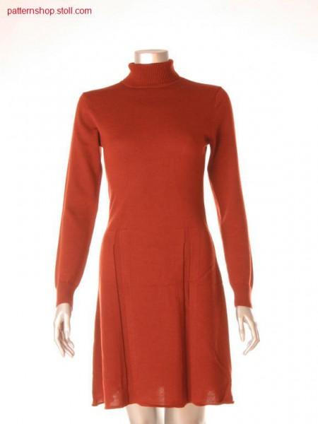 Fitted Fully Fashion dress with fake box pleats / Tailliertes Fully Fashion Kleid mit imitierten Kellerfalten