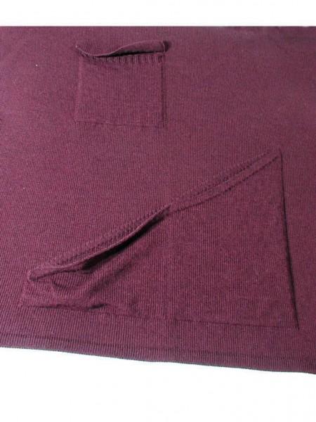 Jersey front in 1x1 technique with patch pockets / Rechts-Links Vorderteil in 1x1 Technik mit aufgesetzten Taschen