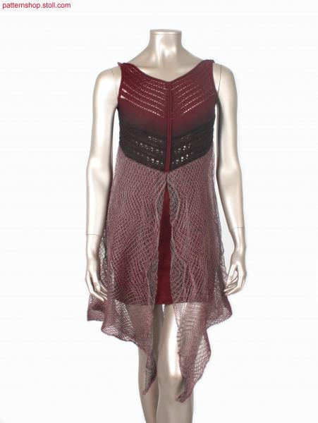 Fully Fashion dress with different pointelle structures / Fully Fashion Kleid mit verschiedenen Petinetstrukturen
