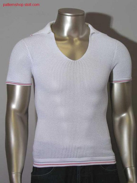 Polo shirt with knitted on polo-collar / Polohemd mit angestricktem Polokragen