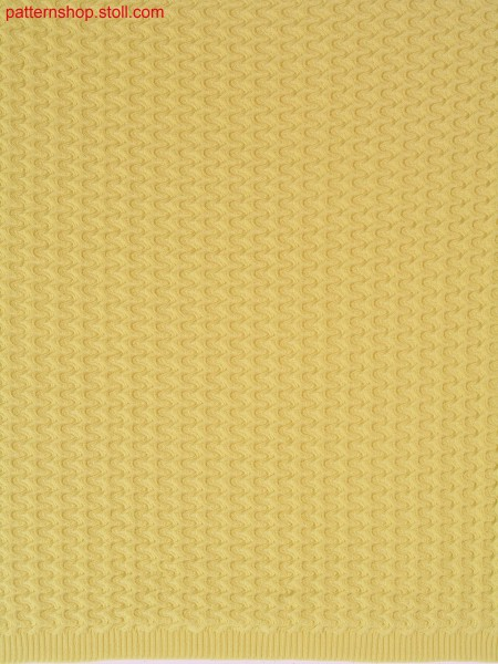 Racking pattern with drop stitch / Versatzmuster mit Nadelzug