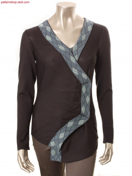 Fully Fashion jersey cardigan / Fully Fashion Rechts-LinksStrickjacke
