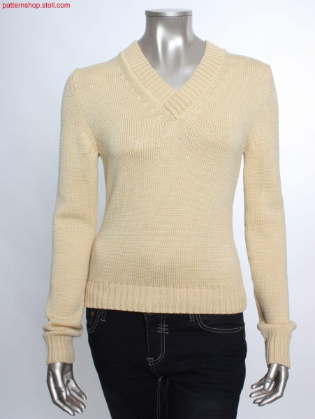 Fully Fashion jersey pullover with French shoulder / FullyFashion Rechts-Links Pullover mit franz