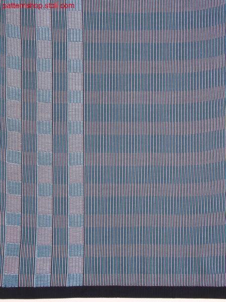Striped knitted fabric in weaving look with hoop effect / Gestreiftes Gestrick in Weboptik mit Ringeleffekt