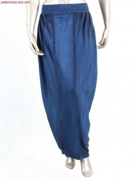 Long Fully Fashion jersey skirt / Langer Fully Fashion Rechts-Links Rock