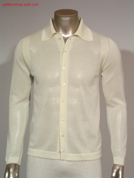 Jersey shirtfronts with button holes / R-L Hemdenvorderteile mit Knopfl
