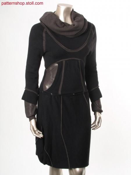 Reversible Fully Fashion dress with layered flared cuffs / Fully Fashion Wendedress mit zweilagigen gebauschten B